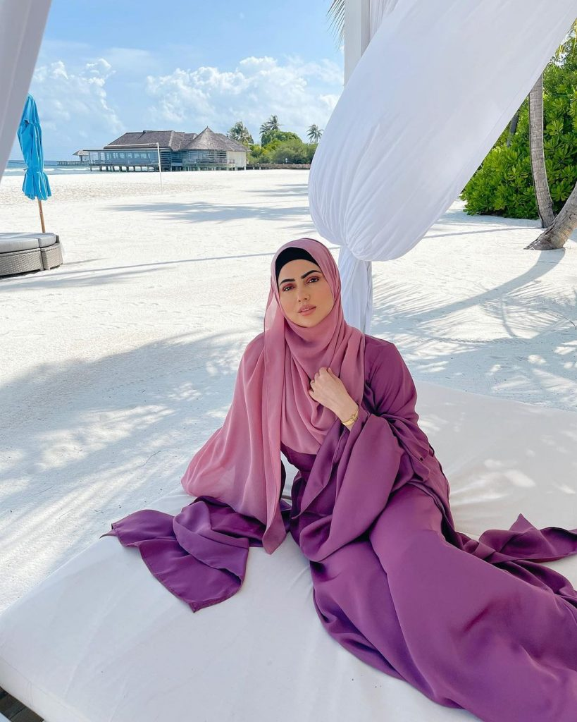 Sana Khan Vacationing In Maldives With Her Husband
