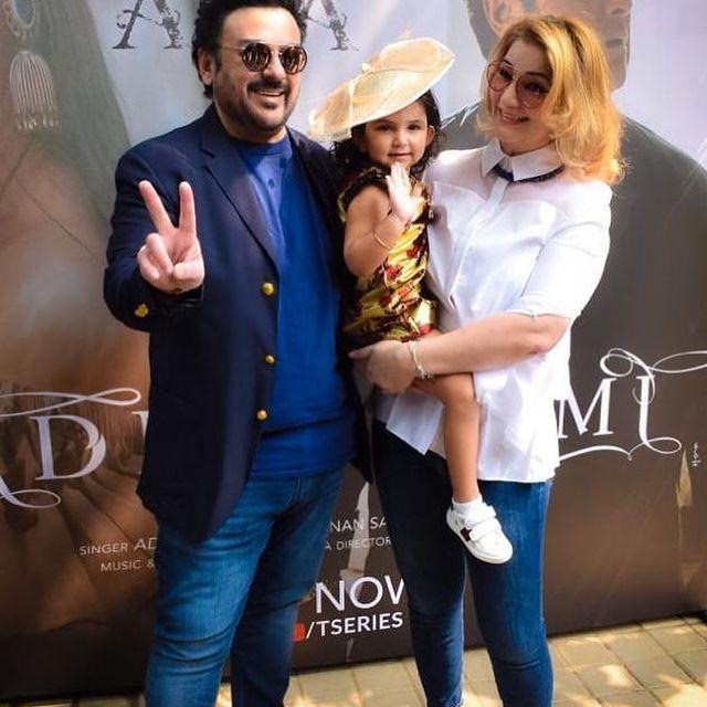 Adnan Sami Khan's 50th Birthday Celebration With Family