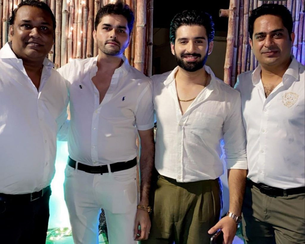 Aiman And Muneeb Spotted With Family Friends