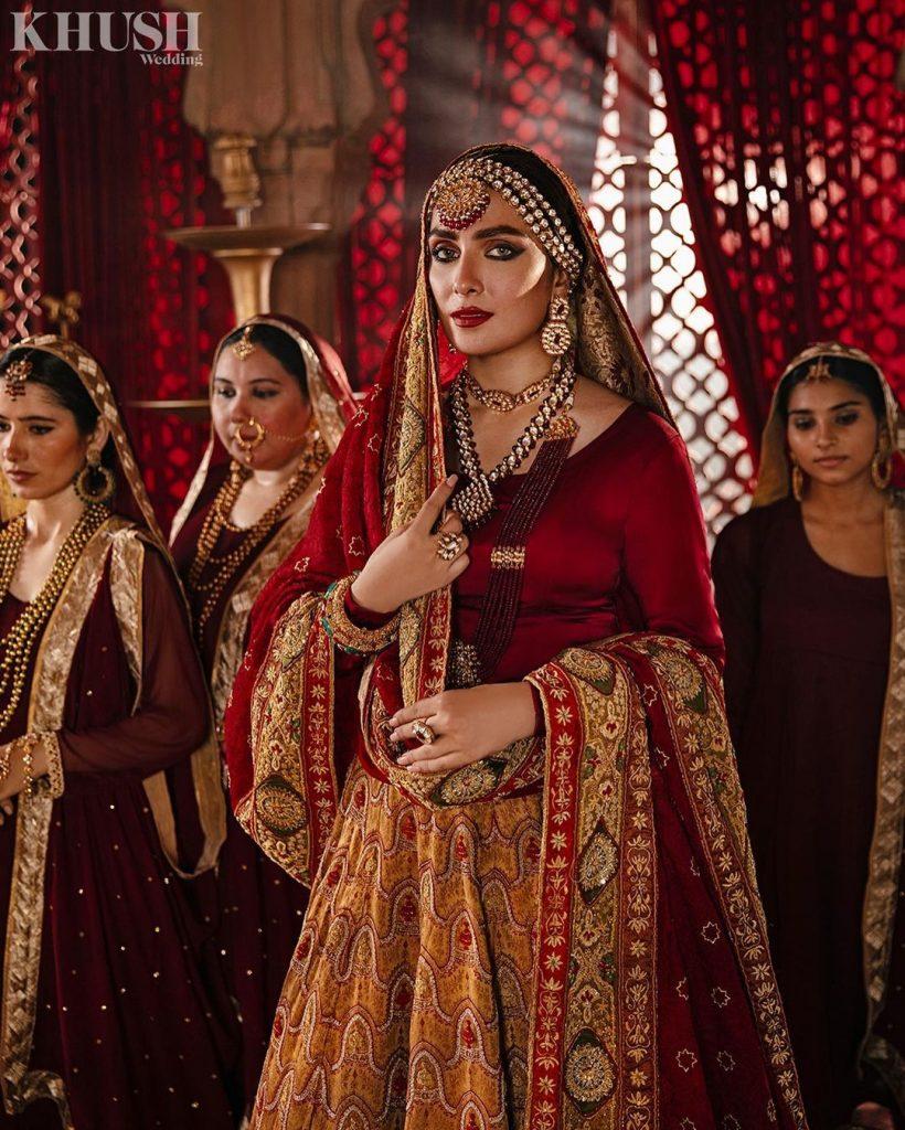 Lajwanti Latest Bridal Couture Featuring Ayeza Khan And Danish Taimoor