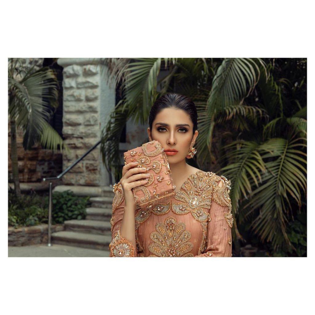 Komal Chawla Couture Latest Formal Wear Featuring Ayeza Khan