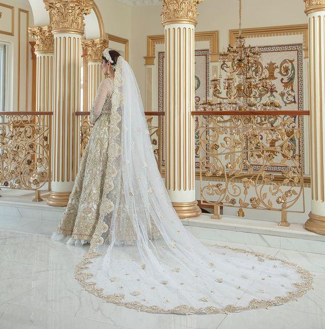 Ayeza Khan Looks Like A Goddess In Ivory Bridal Ensemble