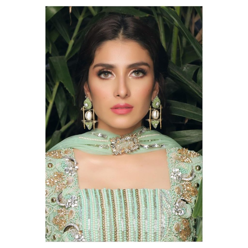 Komal Chawla Couture Formal Wear Featuring Ayeza Khan