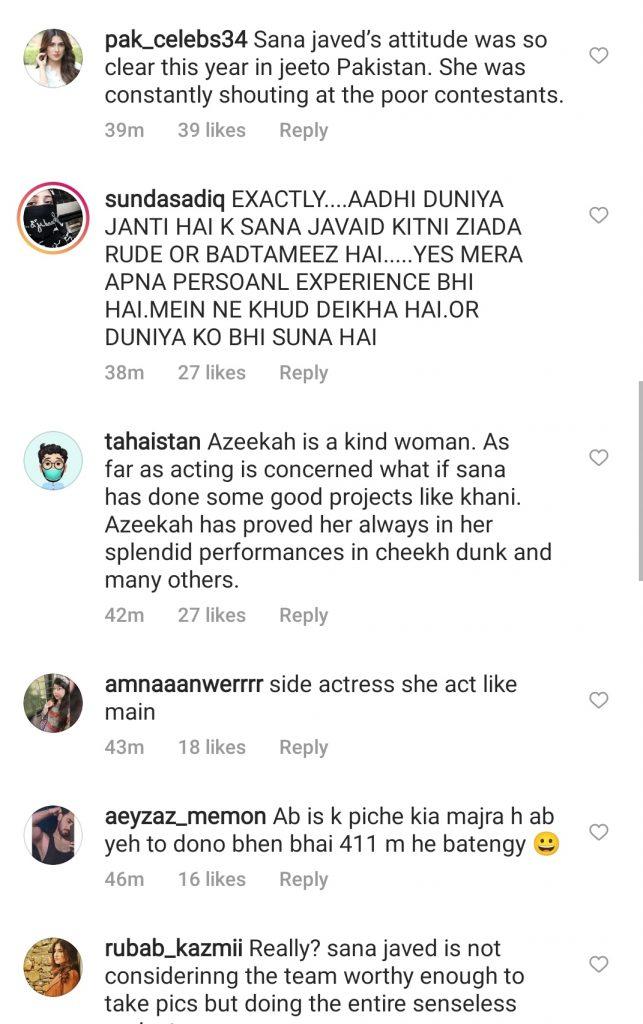 Sana Javed Vs Azekah Daniel - Public Opinion