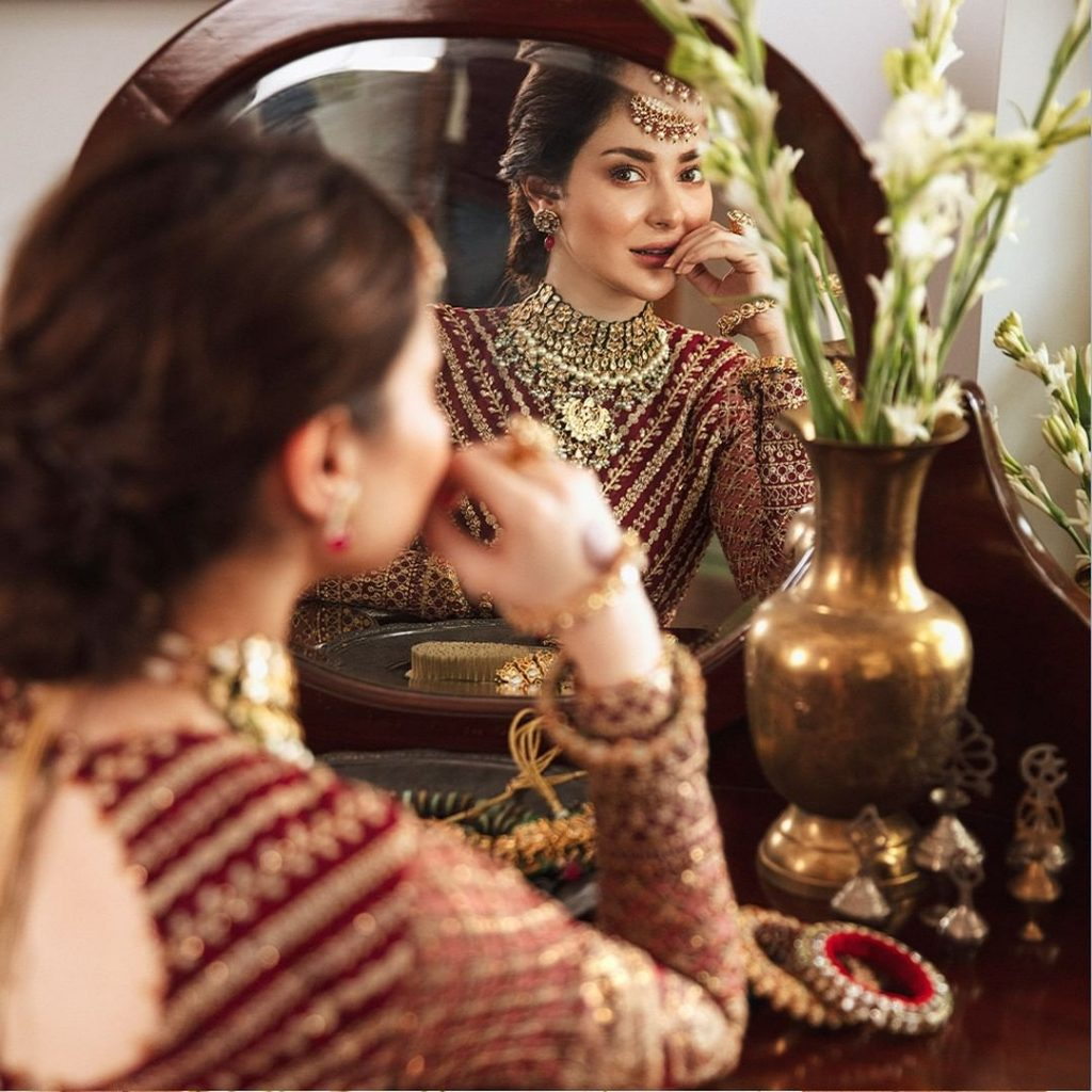 Afrozeh Latest Formal Collection'21 Shehnai Featuring Hania Aamir