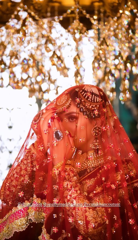 Jannat Mirza And Alishba Anjum Look Radiant In Their Latest Bridal Shoot