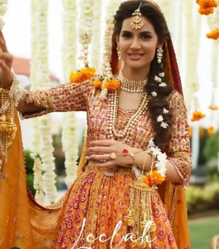 Madiha Imam Looks Elegant In Farah Talib Aziz Bridal Shoot