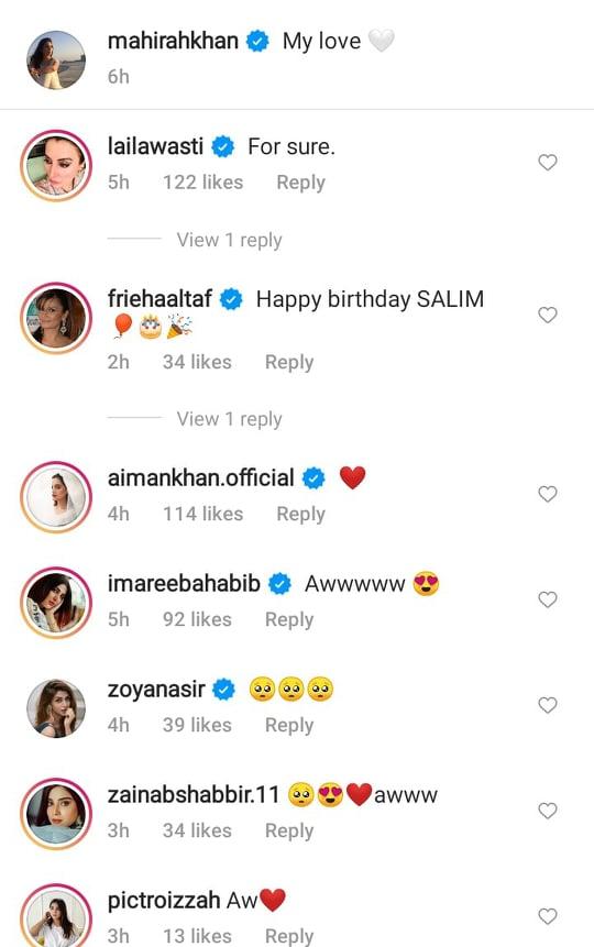 Mahira Khan Shared A Heartfelt Post For Salim Karim On His Birthday