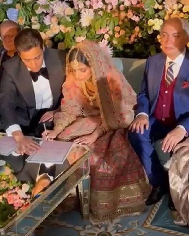 Maryam Nawaz's Daughter-In-Law Wore A Sabyasachi Bridal Ensemble On Nikkah