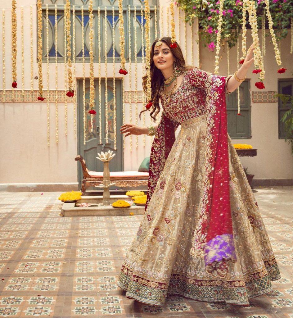 Annus Abrar Bridal Edit Maahru Featuring The Gorgeous Minal Khan