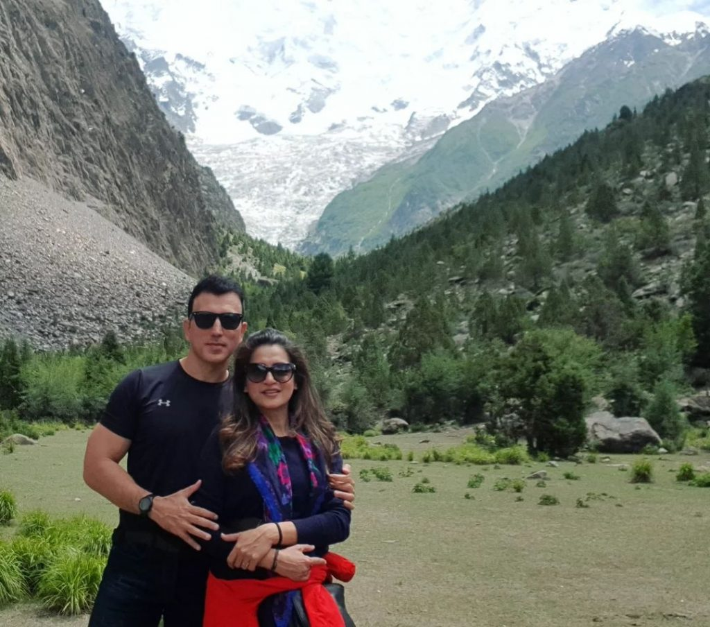 Nazia Malik Beautiful Pictures With Husband From Northern Pakistan
