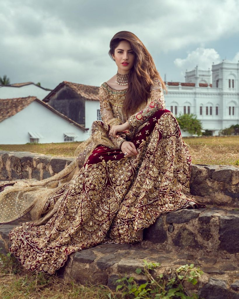 Annus Abrar Recent Bridal Collection Featuring Neelam Muneer