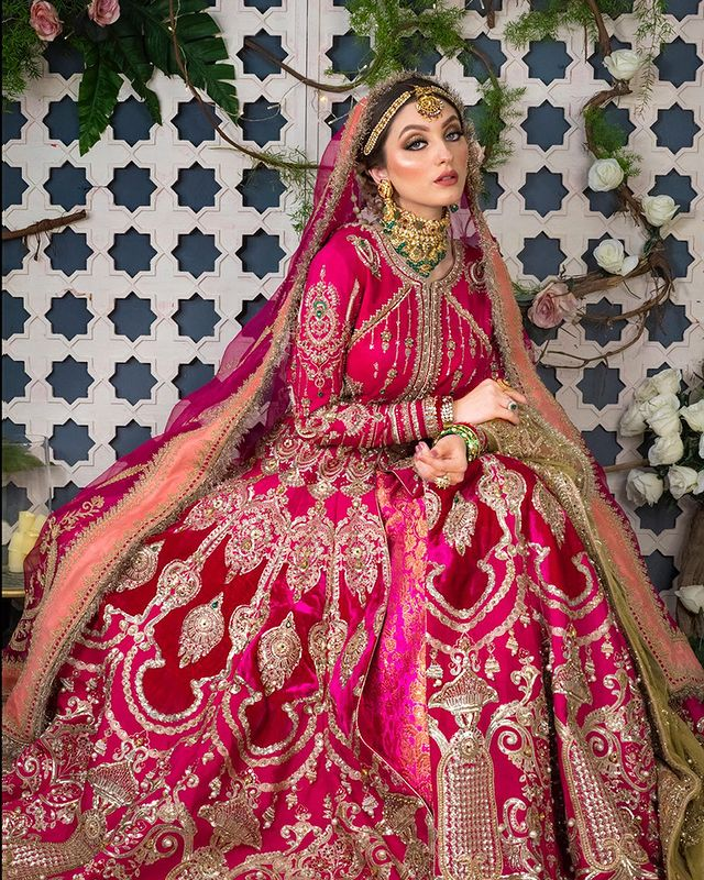 Neha Rajpoot Dazzles As A Traditional Bride In Red