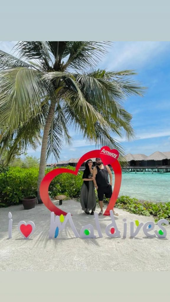 Nida Yasir And Yasir Nawaz Latest Pictures From Vacations In Maldives