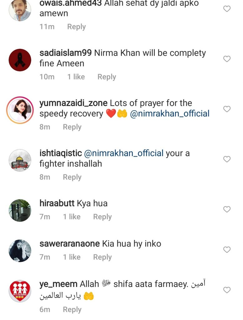 Nimra Khan Admitted In Hospital - Requests Fans for Prayers