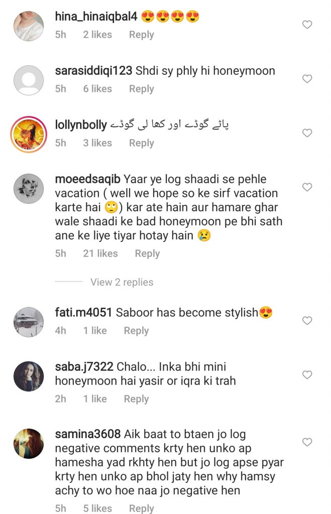 Saboor Aly & Ali Ansari Treat Fans With Vacation Pictures