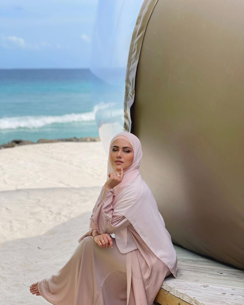 Latest Pictures Of Sana Khan From Vacations In Maldives