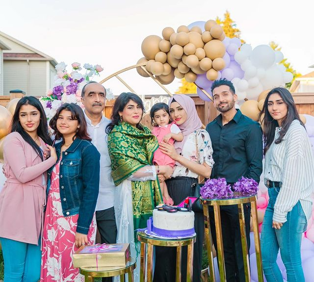 Sham Idrees With Family At His Mother In Law's Birthday