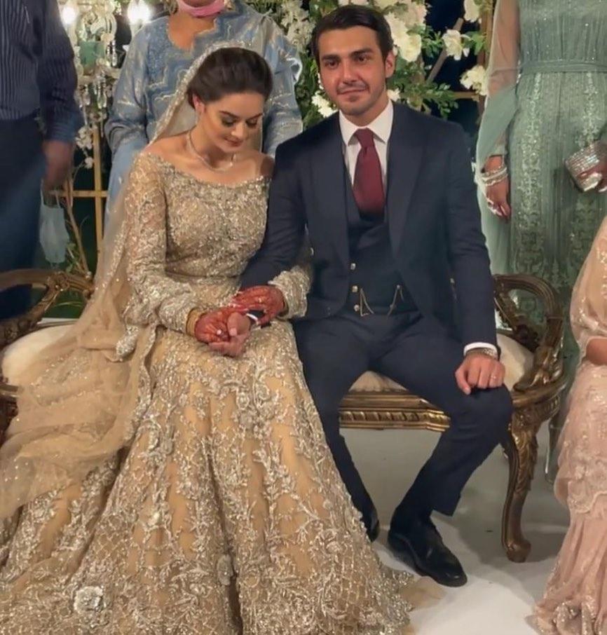 Ahsan Mohsin Ikram & Minal Khan Walima Pictures