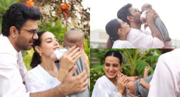 Iqra Aziz and Yasir Hussain Share An Adorable Video With Their Newborn