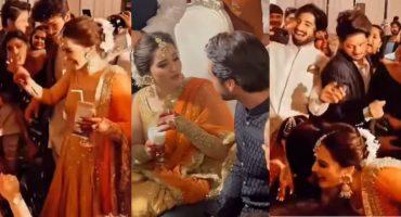 Unseen Videos Of Doodh Pilai Rasam At Minal Khan's Wedding
