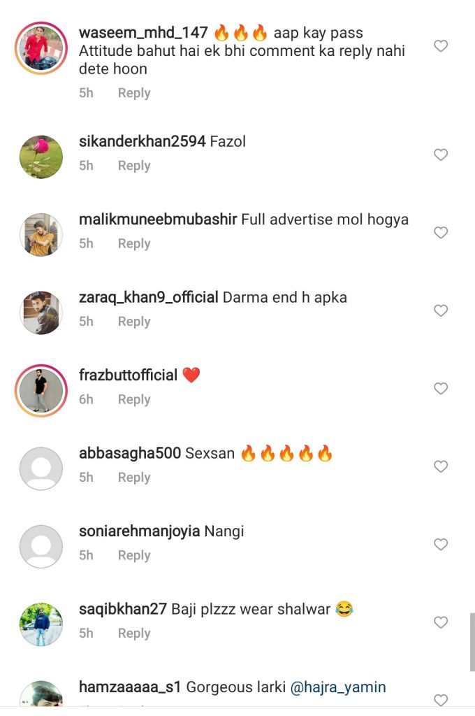 Netizens Showing Displeasure Over Hajra Yamin's Latest Pictures