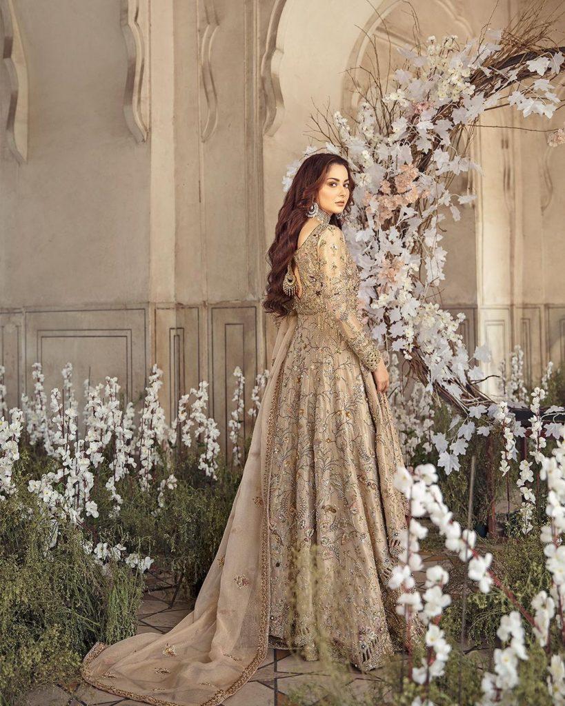 Sunnia Manahil's Latest Bridal Collection Featuring Hania Aamir