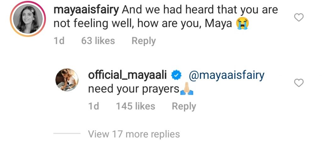 Maya Ali Requests For Prayers For Her Health