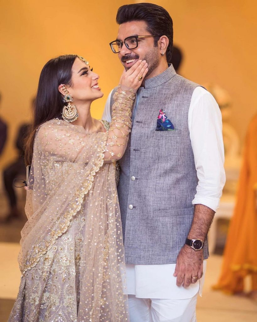 Breathtaking Pictures Of Iqra Aziz And Yasir Hussain From Minal Khan's Wedding