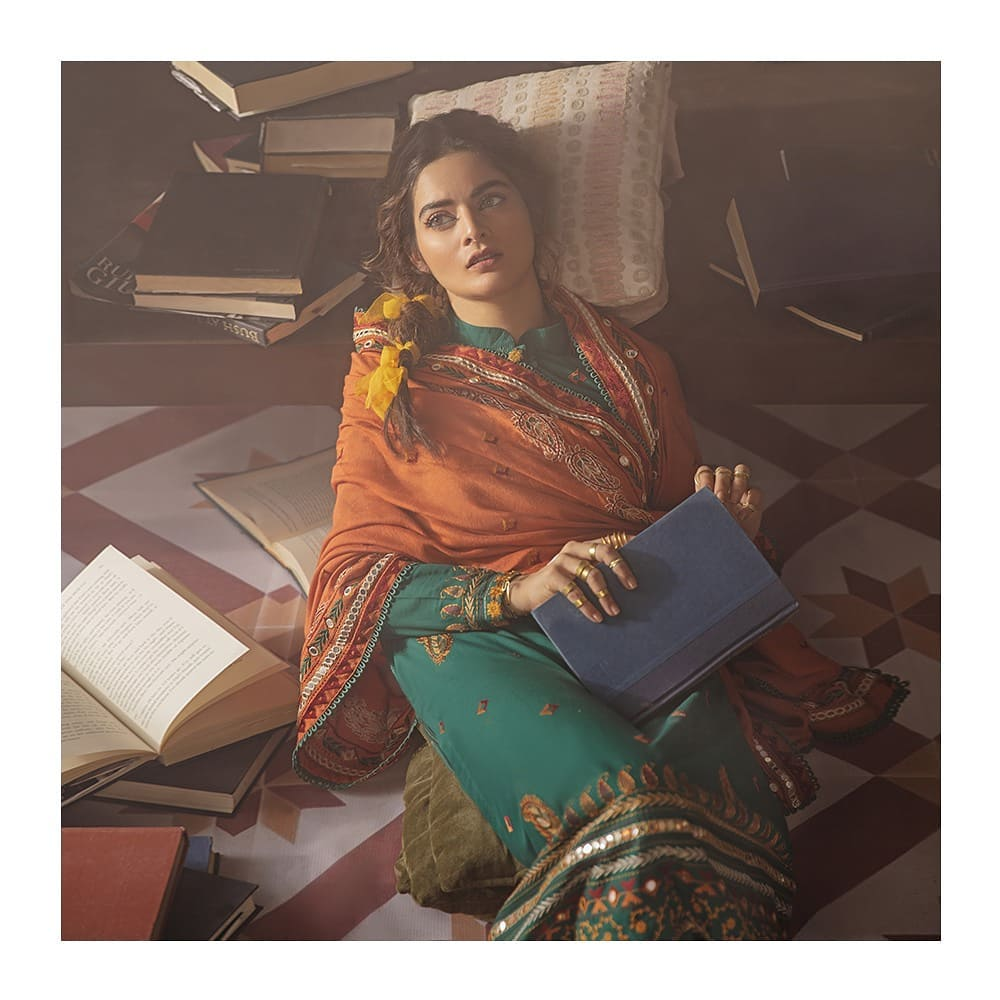 Cross Stitch Latest Unstitched Collection'21 Featuring Minal Khan