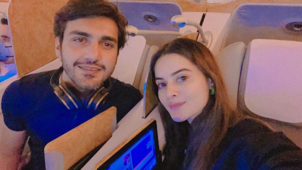 Minal Khan and Ahsan Mohsin Enjoying First Day of Honeymoon in Maldives