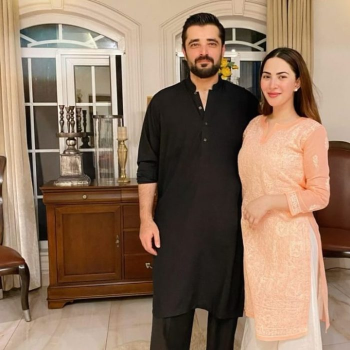 Adorable Pictures Of Naimal Khawar And Hamza Ali Abbasi With Their Son