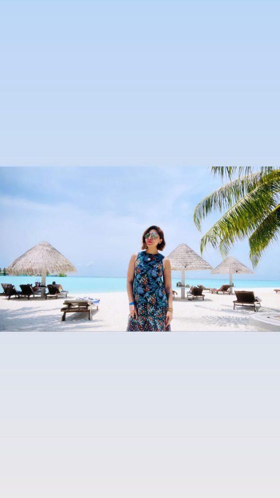 Natasha Ali Vacationing With Her Husband At Maldives