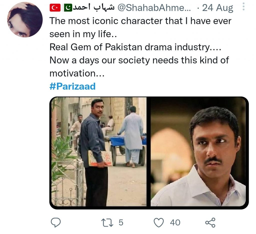 Public Lauds Ahmed Ali Akbar For His Brilliant Performance In Parizaad