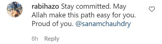Sanam Chaudhry Has A Message For Her Followers