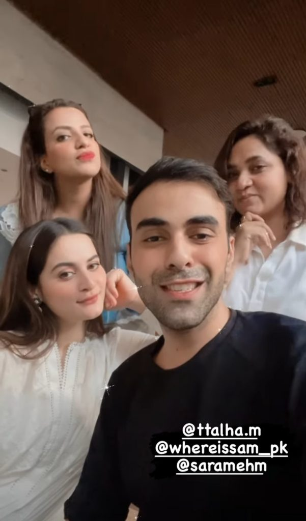 Aiman Khan Having Fun With Friends In Lahore