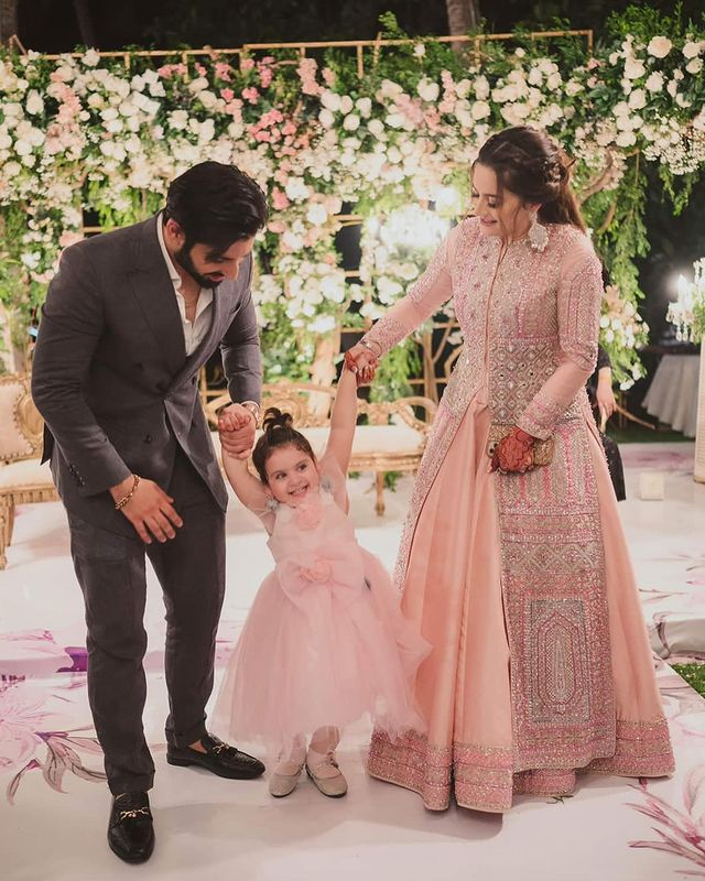 Aiman Khan And Muneeb Butt At Minal Khan's Valima- Beautiful Pictures