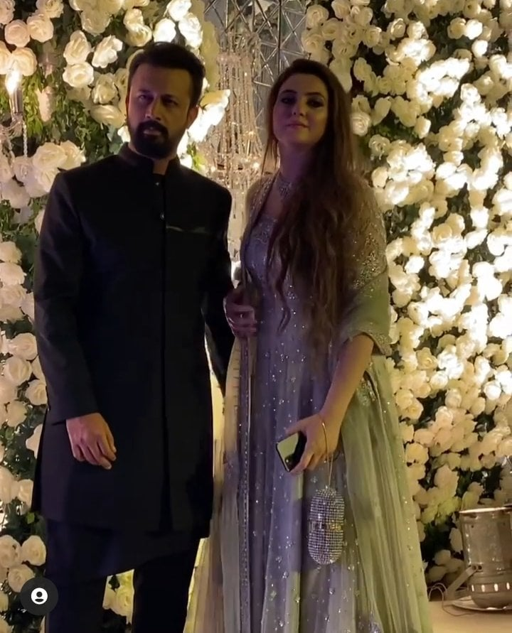 Atif Aslam Spotted With Wife Sara Bharwana At A Family Wedding