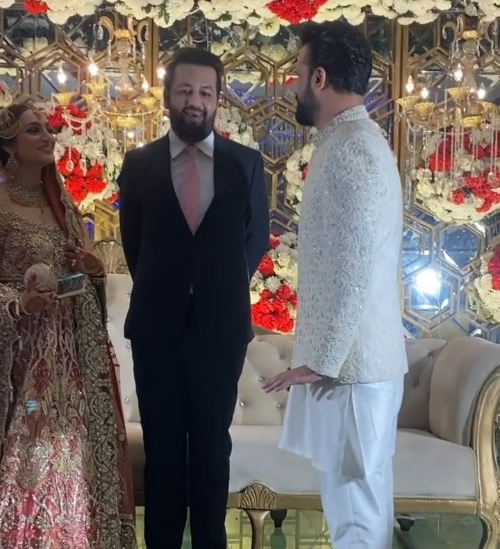 Atif Aslam And Sara Bharwana Spotted At A Wedding Event