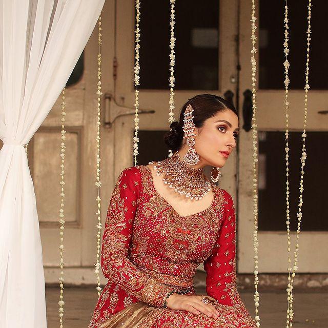 Ayeza Khan Is A Vision In Traditional Bridal Ensembles By Aisha Imran