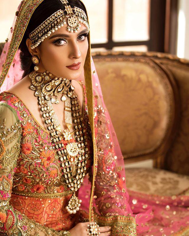 Ayeza Khan Looks Regal In Gorgeous Bridal Ensembles By Nomi Ansari
