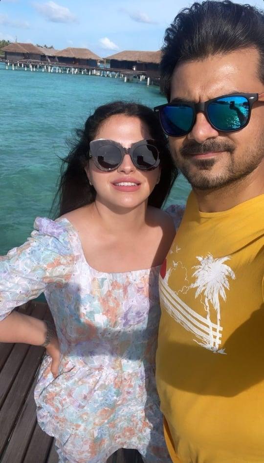 Faiza Saqlain Vacationing With Her Husband In Maldives