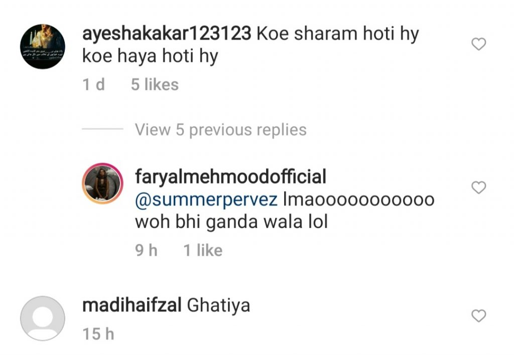 Faryal Mehmood's Bold Reply To Haters Gets More Hate