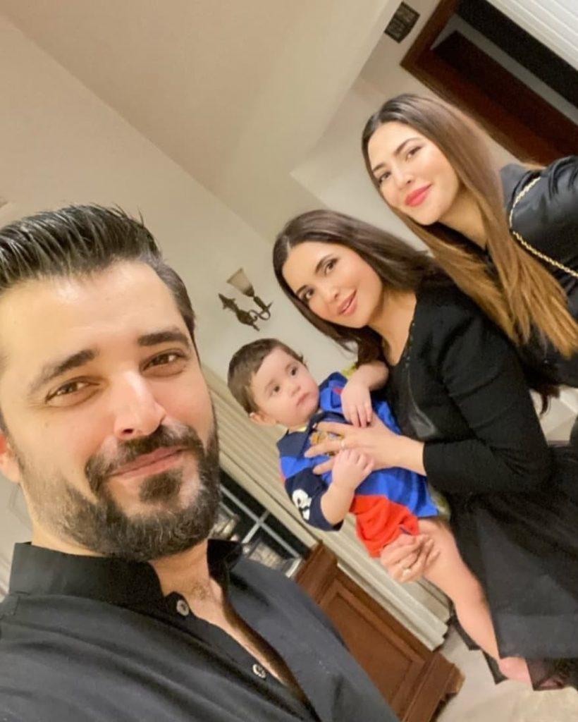 Adorable Clicks Of Hamza Ali Abbasi And Naimal Khawar From Fazeela Abbasi's Birthday