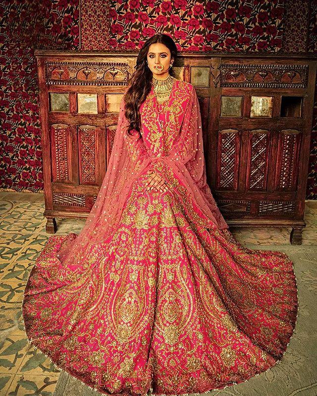 Hira Mani Looks Stellar In Bridal Ensembles By Ali Xeeshan