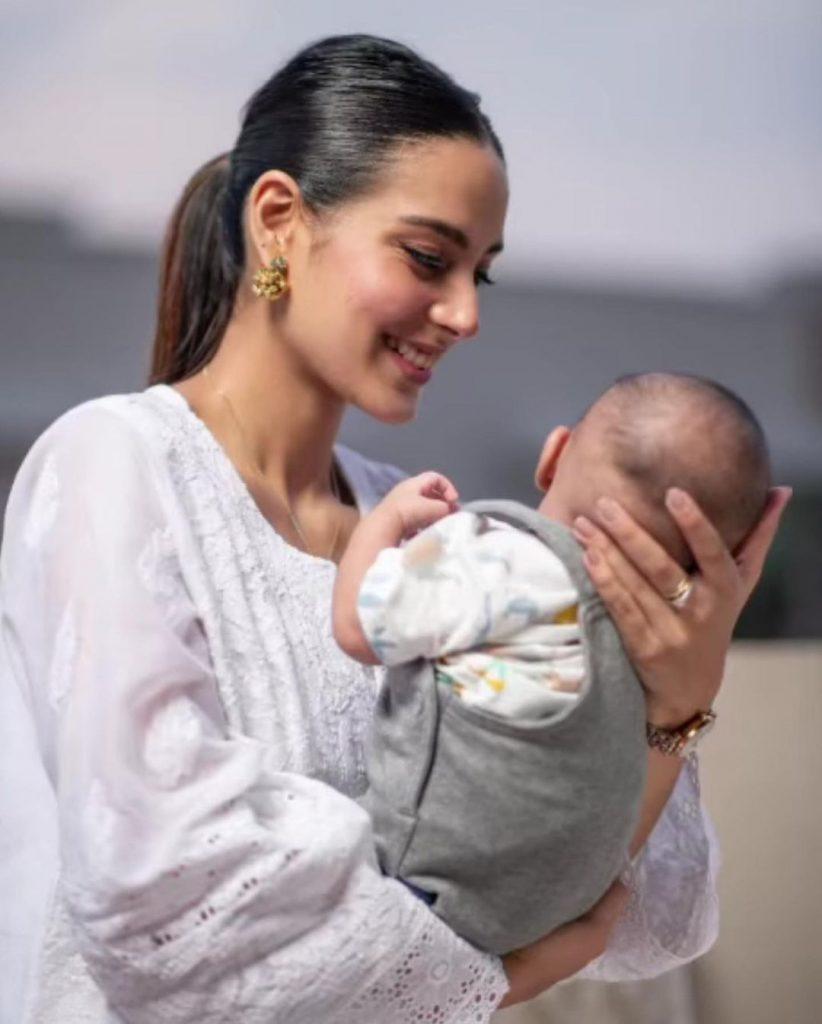 Adorable Clicks Of Iqra Aziz And Yasir Hussain With Baby Kabir Hussain