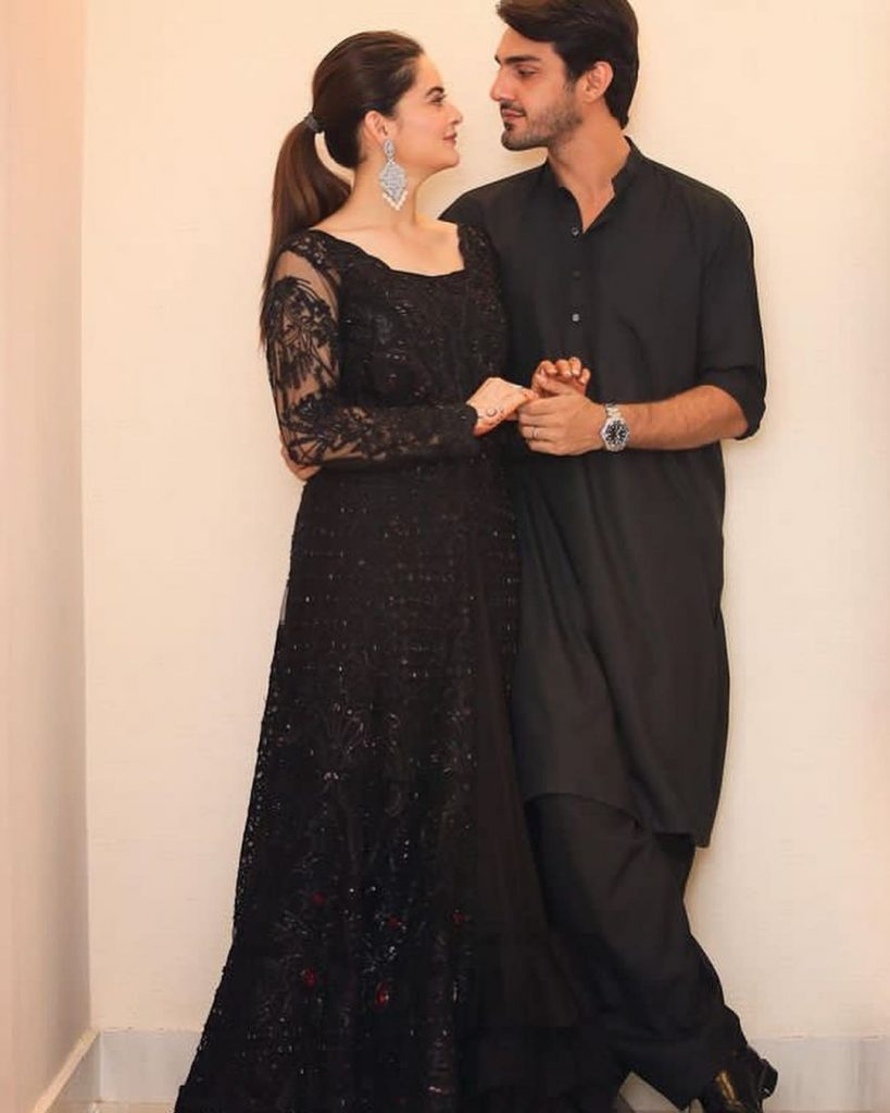 Alluring Clicks Of Newly Wed Minal Khan and Ahsan Mohsin Ikram