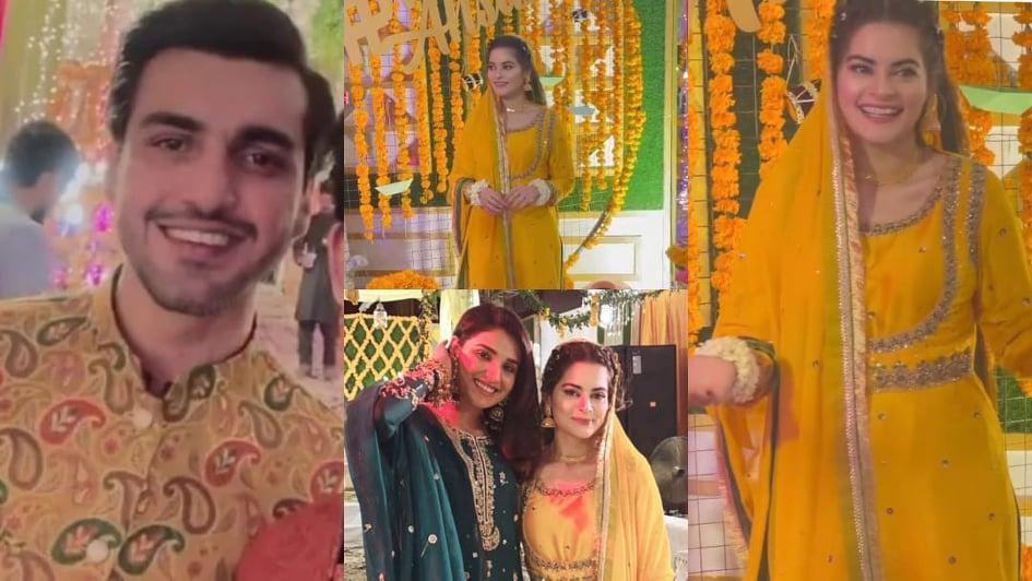 Inside Minal Khan And Ahsan Mohsin's Mayoon Event