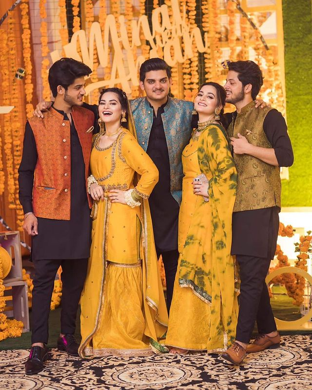 Minal Khan And Ahsan Mohsin's Mayoon- HD Pictures