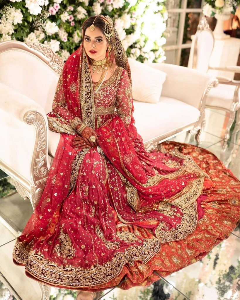 Enthralling Details About Minal Khan's Wedding Dress